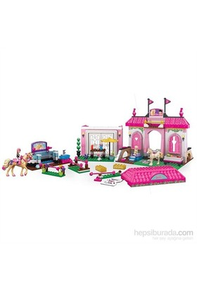 Mega Bloks Barbie Pony Ve Jokey Oyun Seti