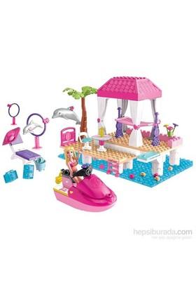 Mega Bloks Barbie Jet Ski Ve Yunuslar Oyun Seti