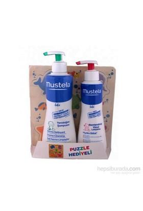Mustela Dermo Cleansing 500 Ml Ve Hydra Bebe Body 300 Ml Kiti+Puzzle