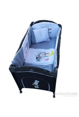 Crystal Baby 437 Oyun Parkı Uyku Seti Gri