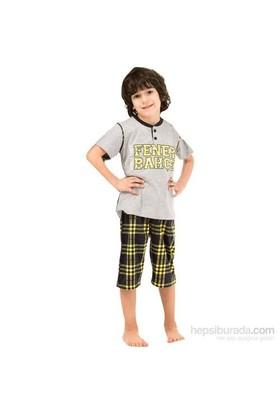 Roly Poly 3034 Erkek Çocuk Pijama Takımı Gri 7 Yaş (122 Cm)