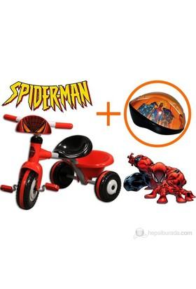 Furkan Spiderman 3 Tekerlekli Bisiklet ve Kask Seti