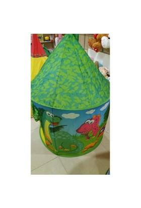 Furkan Oyun Şatosu Çocuk Oyun Çadırı-Yeşil