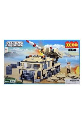 Cogo Asker Seti Askeri Roketatar 436 Parça Lego