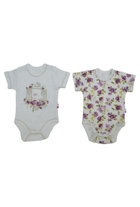 Baby Center Kız Bebek Cam Güzeli 2 Li Body Kısa Kol