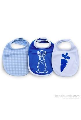 Baby Corner 3'Lü Önlük / Tavşan / Saks