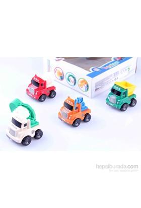 Nani Toys 4'lü Sürtmeli Mini İş Araçları Seti