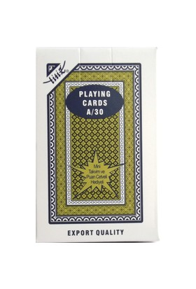 Ks T084 Kulüp A 30 Lüks Oyun Kağıdı Mavi