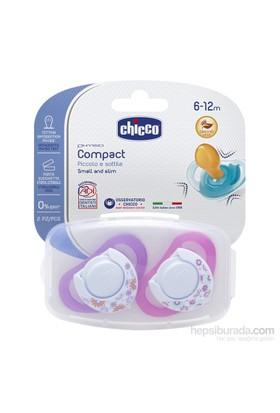 Chicco Physio Compact Kauçuk Emzik Kız 6-12 Ay 2Li