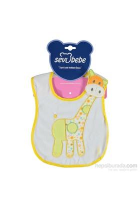 Sevi Bebe Yandan Cırtlı Sıvı Geçirmez Mama Önlüğü