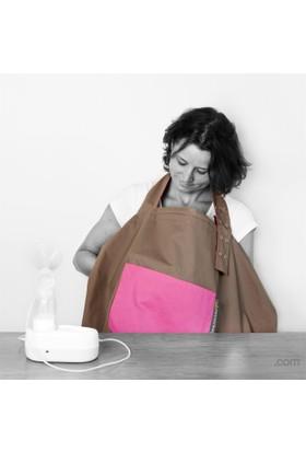 Minimonkey Emzirme Önlüğü - Zeytin Yeşili / Pembe