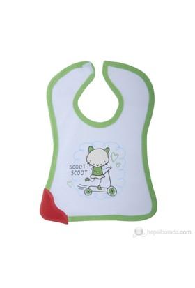 BabyJem Dişlikli Mama Önlüğü / Yeşil Biyeli
