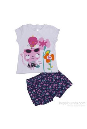 Bebepan 8613 Pink 2Li Bebek Takımı Beyaz 18-24 Ay (86-92 Cm)