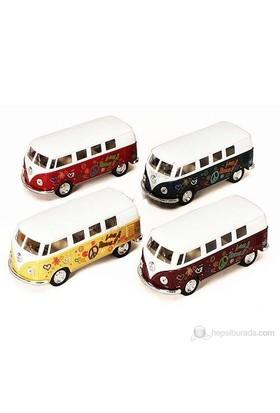 1:32 Kınsmart 1962 Volkswagen Klasik Minibüs Çiçekli