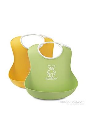 Babybjörn Yumuşak Plastik Mama Önlüğü / Green-Yellow 2'Li