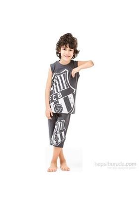 Roly Poly 3008 Barcelona Lisanslı Erkek Çocuk Pijama Takımı Füme 3 Yaş (98 Cm)