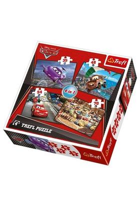 Disney Cars 4'lü Çocuk Puzzle (Trefl 35+48+54+70 Parça)
