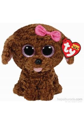 Ty Peluş Oyuncak Maddie - Brown Dog W-Bow Regular 15 Cm