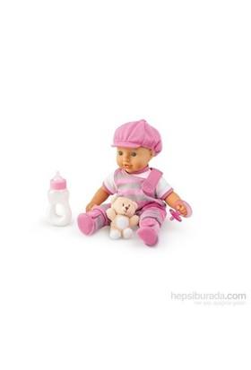 Trudi Pembe Takımlı Şapkalı Bebek 30 Cm + Ayıcık Ve Bıbe