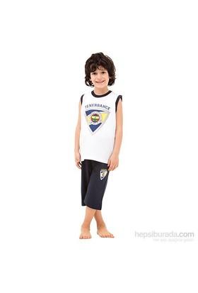 Roly Poly 3037 Fenerbahçe Lisanslı Erkek Çocuk Pijama Takımı Beyaz 5 Yaş (110 Cm)