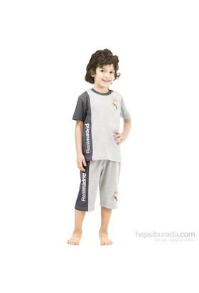 Roly Poly 3009 Real Madrid Lisanslı Erkek Çocuk Pijama Takımı Gri 4 Yaş (104 Cm)