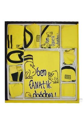 Özge Minipop 3802 Bebek Hastane Çıkışı 10Lu Set Sarı-Lacivert 0-3 Ay (56-62 Cm)
