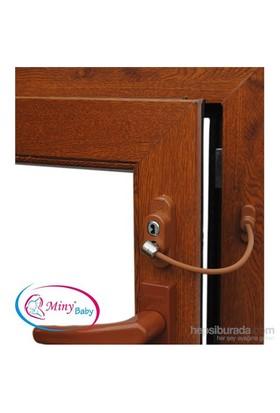 Miny Baby Halatlı Pencere Kilidi - Kahverengi