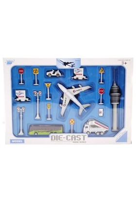 Die Cast Uçak Seti A380 Mavi