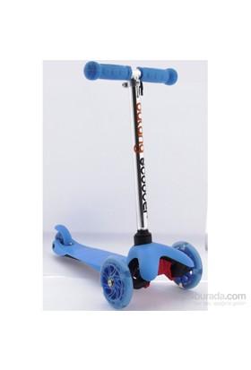 Bulong 3 Teker Işıklı Scooter Mavi Küçük Mıcro Style