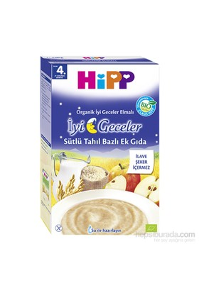 Hipp Organik İyi Geceler Elmalı Sütlü Tahıl Bazlı Kaşık Maması 250 gr