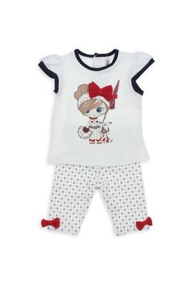 Modakids Bambaki Kız Bebek Kısa Taytlı Takım 013-01183-027