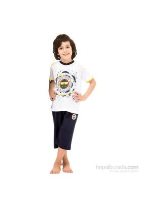 Roly Poly 3033 Erkek Çocuk Pijama Takımı Fb Beyaz 4 Yaş (104 Cm)