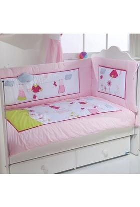 Aybi Baby 211 Kokosh Bebek Uyku Seti 70X130 Pembe