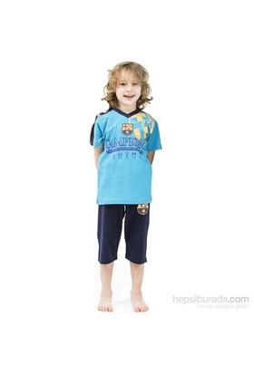 Roly Poly 3001 Barcelona Lisanslı Erkek Çocuk Pijama Takımı Mavi 4 Yaş (104 Cm)