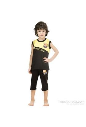 Roly Poly 3003 Barcelona Lisanslı Erkek Çocuk Pijama Takımı Sarı-Siyah 5 Yaş (110 Cm)