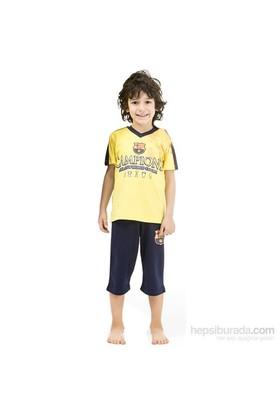 Roly Poly 3001 Barcelona Lisanslı Erkek Çocuk Pijama Takımı Sarı 6 Yaş (116 Cm)