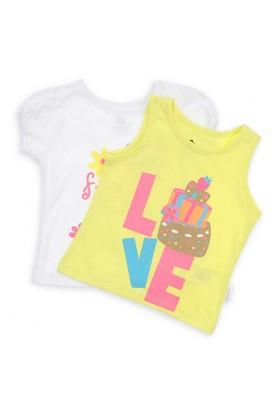 Modakids Wonder Kids Kız Bebek 2'Li T-Shirt 010-2701-001