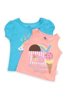 Modakids Wonder Kids Kız Bebek 2'Li T-Shirt 010-2701-015