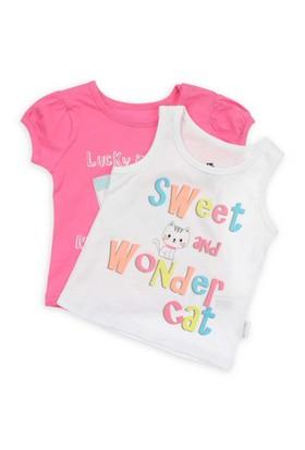 Modakids Wonder Kids Kız Bebek 2'Li T-Shirt 010-2701-022