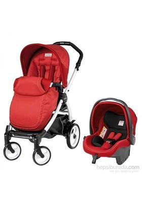 Peg Perego Book Plus 51 Pop Up Completo Travel Sistem Bebek Arabası Sunset Kırmızı