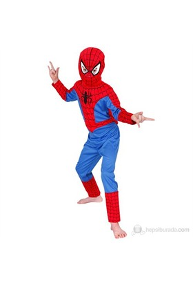 Spiderman Çocuk Kostüm Klasik 7-8 Yaş