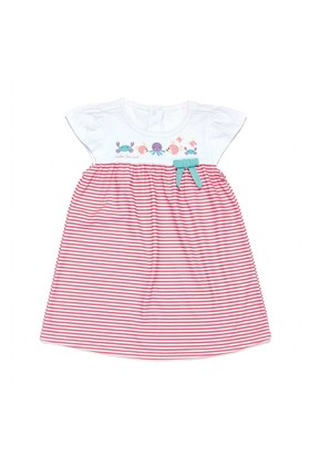 Modakids Wonder Kids Kız Bebek Pembe Çizgili Elbise 010-1352-021