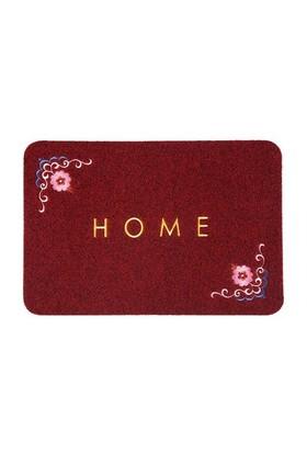Giz Home Nakışlı/Brode Kapı Paspası 40X60 Kırmızı Çiçekli