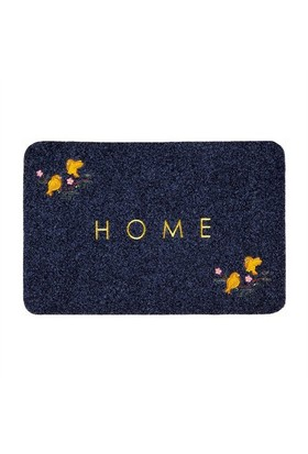 Giz Home Nakışlı/Brode Kapı Paspası 40X60 Gri Kuş