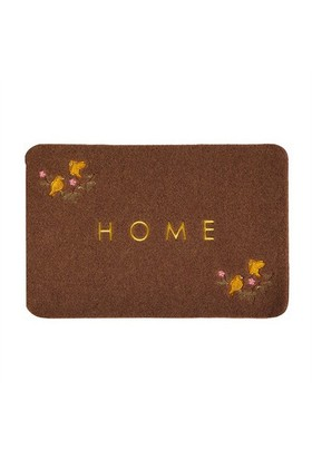 Giz Home Nakışlı/Brode Kapı Paspası 40X60 Kahve Kuş