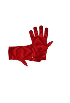 7-12 Yaş Kırmızı Renk Likralı Çocuk Eldiveni