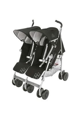 Maclaren Yeni Twin Techno İkiz Bebek Arabası Black