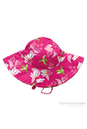 İ Play Upf 50+ Güneş Korumalı Brim Sun Bebek Şapka Fuşya
