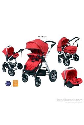 Papetto 039 İtalya Seyahat Sistem Bebek Arabası / Kırmızı