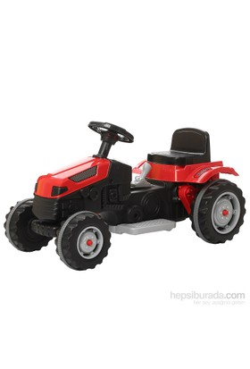 Pilsan Active Tractor 6V Akülü Traktör / Kırmızı